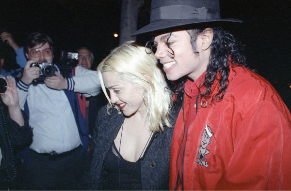 Madonna and Michael Jackson go out to dinner together at a restaurant in Los Angeles on Tuesday night, April 10, 1991. <span class=meta>(AP Photo &#47; Kevork Djansezian)</span>