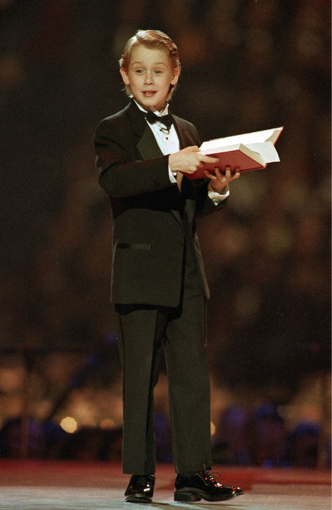 Macaulay Culkin speaks from the stage during the Presidential Inaugural Ball on Jan. 19, 1993, in Landover, Maryland.  <span class=meta>(AP Photo &#47; Amy Sancetta)</span>