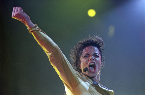 Michael Jackson performs in Tel Aviv, Israel in front of about 60,000 fans on Sept. 19, 1993. <span class=meta>(AP Photo &#47; Jerome Delay)</span>