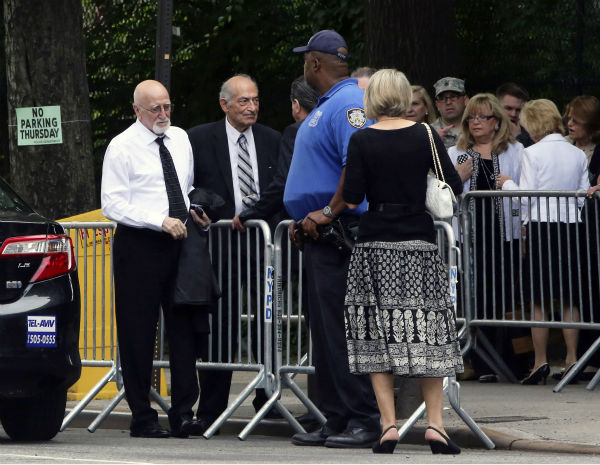 Actor Dominic Chianese arrives for the funeral service of James Gandolfini in New York on June 27, 2013. Gandolfini, who played Tony Soprano in the HBO show &#39;The Sopranos,&#39; died at age 51 while vacationing in Italy. Chianese played Junior Soprano in the series. <span class=meta>(AP Photo &#47; Mary Altaffer)</span>