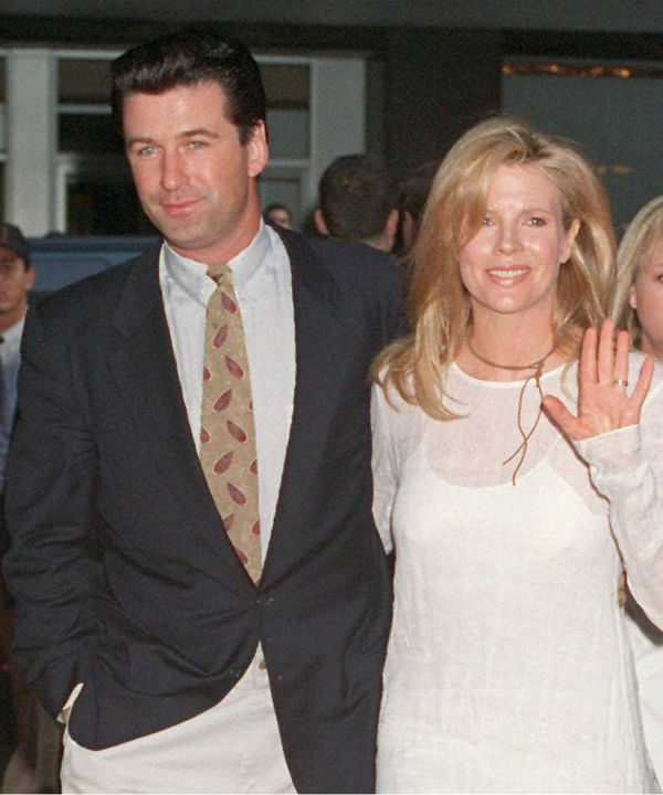 Kim Basinger is shown in a June 26, 1994 photo with her husband and actor Alec Baldwin.