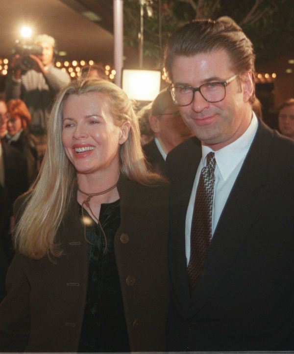Alec Baldwin and his wife Kim Basinger appear in...