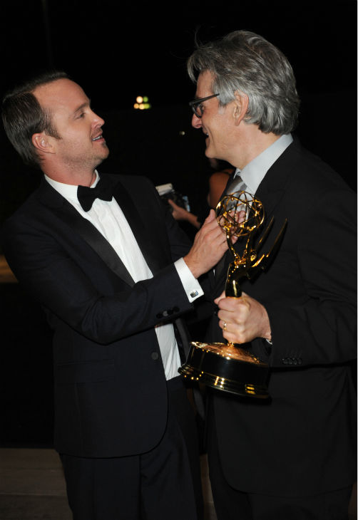 &#39;Breaking Bad&#39; actor and Emmy nominee &#40;and former winner&#41; Aaron Paul and producer Dave Johnson attend the Emmy Awards 2013 Governors Ball after the 65th Primetime Emmy Awards in Los Angeles on Sept. 22, 2013. <span class=meta>(Richard Shotwell &#47; Invision &#47; AP)</span>