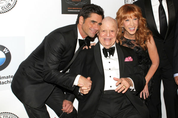 Actor John Stamos, honoree Don Rickles and comedienne Kathy Griffin pose for photos at the Friars Club event honoring Rickles, 87, at the Waldorf Astoria in New York on Monday, June 24, 2013. <span class=meta>(Greg Allen &#47; Invision &#47; AP)</span>