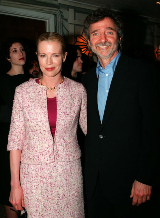Academy Awards and The 50th British Academy Film Awards nominees actress Kim Basinger, left, and Academy Awards nominee director Curtis Hanson pose during the British Academy of Film and Television Arts&#39; Los Angeles Tea Party honoring the nominees for the Academy Awards and BAFTA Awards in Santa Monica, California on March 21, 1998. <span class=meta>(AP Photo &#47; Rose Prouser)</span>