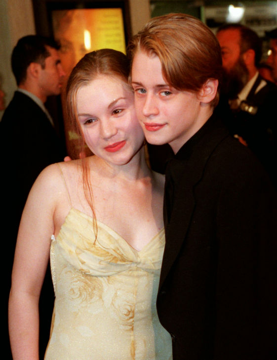 Macaulay Culkin and new wife Rachel Miner pose for picutres at the premiere of 'The Mighty' on Wednesday night on Oct. 7, 1998, in Los Angeles. The movie stars Sharon Stone, Gillian Anderson, Meat Loaf and the actor's brother, Kieran Culkin.