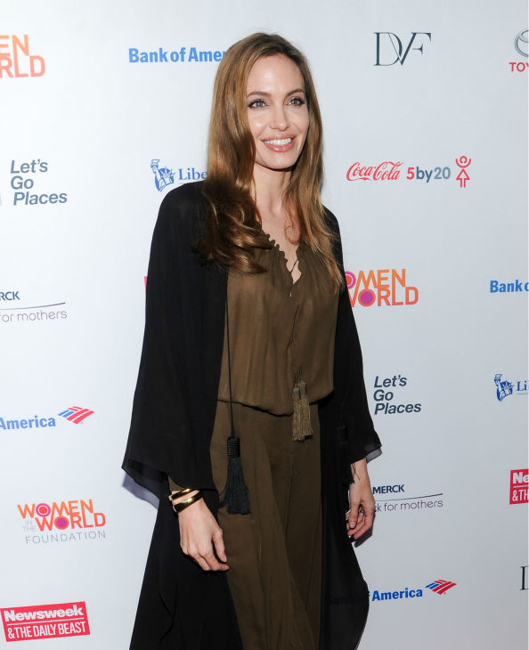 Angelina Jolie attends the 4th annual Women in the World Summit at the David H. Koch Theater on April 4, 2013 in New York.