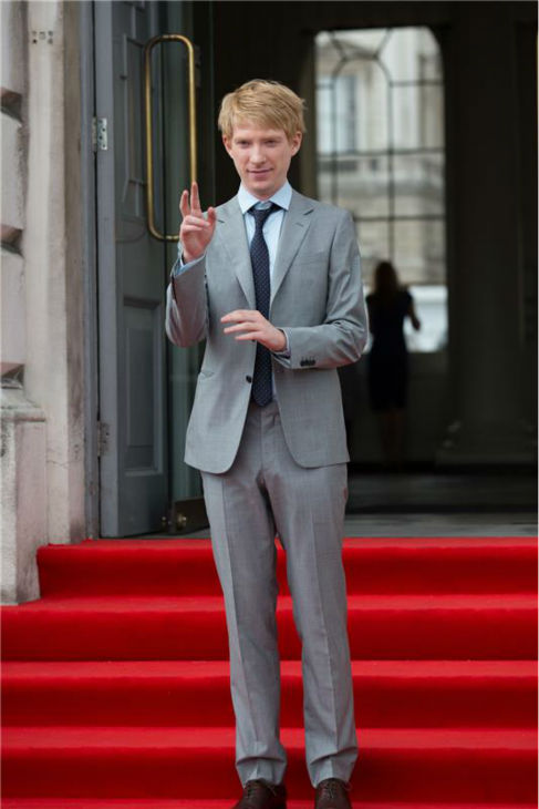 Domhall Gleeson walks the red carpet at the premiere of the film &#39;About Time&#39; at the Film4 Summer Screen cinema at Somerset House in London on Aug. 8, 2013. <span class=meta>(Alessio Fiori &#47; Barcroft Media&#47; startraksphoto.com)</span>