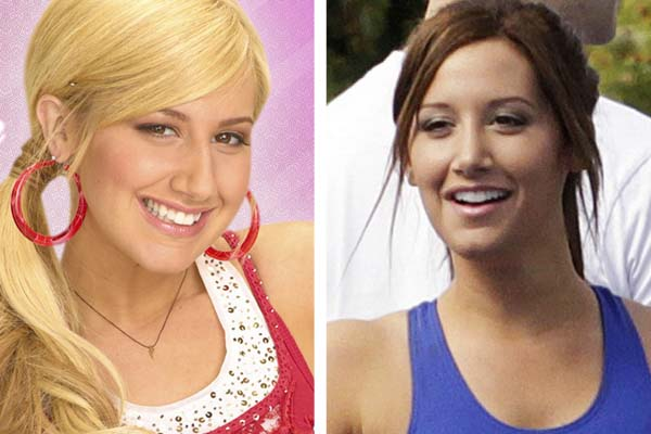 Pictured: To the left, Ashley Tisdale appears in...