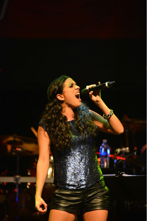 Adriana Louise, a &#39;Team Christina&#39; contestant on &#39;The Voice,&#39; performs at the NBC show&#39;s special concert to celebrate the announcement of the top 12, held at the House of Blues in Los Angeles on Nov. 8, 2012. <span class=meta>(Frazer Harrison &#47; NBC)</span>
