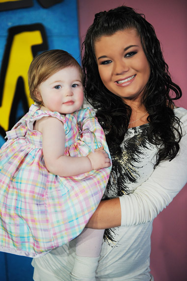 "<div class=""meta image-caption""><div class=""origin-logo origin-image ""><span></span></div><span class=""caption-text"">MTV 's 'Teen Mom's' (2010) Amber Portwood made it to the list as she was arrested for domestic violence in December 2010 after she assaulted her baby daddy on-screen. MTV aired the teen mom kicking, punching and knocking Gary Shirley against the wall in front of their 2-year-old daughter, Leah. Portwood was charged with two  accounts of domestic battery and one account for neglect of a dependent. After her arrest she was issued a 'no contact' order, which prevented her from seeing either Shirley or her daughter. The order was lifted in early 2011.  (MTV Studios/11th Street Productions)</span></div>"