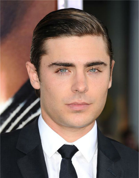 Zac Efron attends the premiere of 'The Lucky One' in Los Angeles on April 16, 2012.