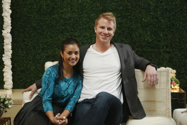 'The Bachelor' season 17 star Sean Lowe and Catherine Giudici appear together before their wedding, which aired live on TV as part of ABC's 'The Bachelor: Sean and Catherine's Wedding' special on Jan. 26, 2014.