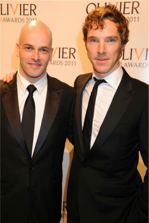 Benedict Cumberbatch appears with Jonny Lee Miller at the 2011 Olivier Awards in London on March 13, 2011. The two play Sherlock Holmes on TV -- Cumberbatch in the BBC series &#39;Sherlock&#39; and Miller in the CBS show &#39;Elementary.&#39; <span class=meta>(Richard Young &#47; Startraksphoto.com)</span>