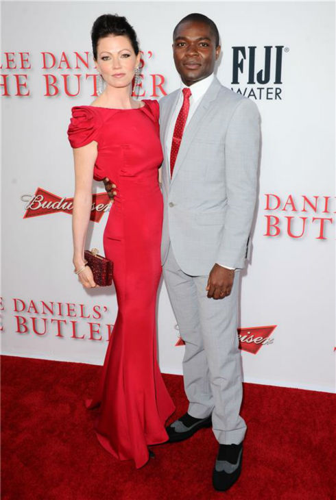 David Oyelowo (plays Louis Gaines) and wife Jessica Oyelowo attend the premiere of 'The Butler' in Los Angeles on Aug. 12, 2013.