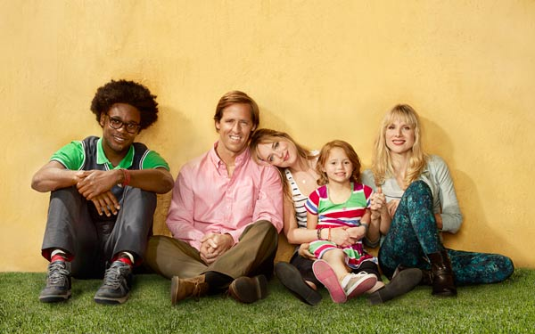 Echo Kellum, Nat Faxon, Dakota Johnson, Maggie Elizabeth Jones and Lucy Punch appear in a promotional photo from the FOX show 'Ben and Kate.'