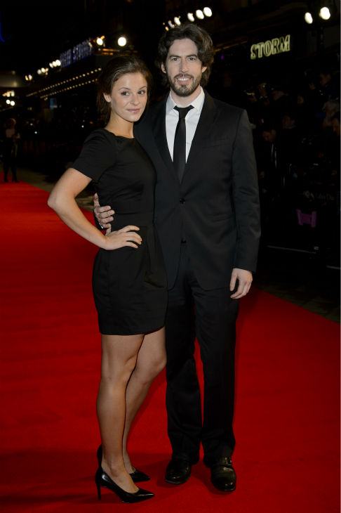 Director Jason Reitman and actress Jordan Hayes walk the red carpet at the premiere of &#39;Labor Day&#39; in London on Oct. 14, 2013. She and husband Ned Rocknroll are expecting their first child together -- and her third overall. <span class=meta>(Ben Pruchnie for Paramount Pictures International)</span>