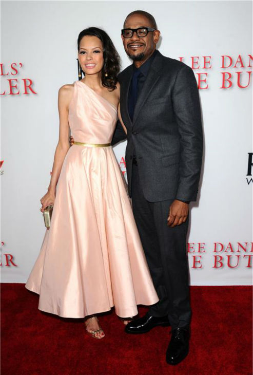 Forest Whitaker (plays main character Cecil Gaines) and wife Keisha Nash Whitaker attend the premiere of 'The Butler' in Los Angeles on Aug. 12, 2013.