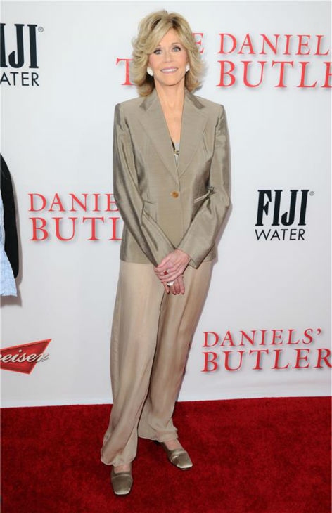 Jane Fonda (plays Nancy Reagan) attends the premiere of 'The Butler' in Los Angeles on Aug. 12, 2013.