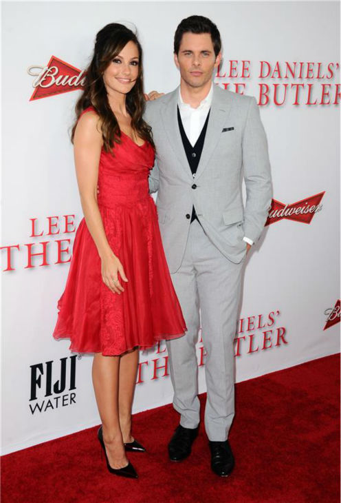 "<div class=""meta ""><span class=""caption-text "">Minka Kelly and James Marsden (they play Jacqueline Kennedy and John F. Kennedy) attend the premiere of 'The Butler' in Los Angeles on Aug. 12, 2013. (Sara De Boer / startraksphoto.com)</span></div>"