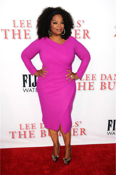 Oprah Winfrey (plays Gloria Gaines) attends the premiere of 'The Butler' in Los Angeles on Aug. 12, 2013.