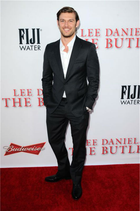 Alen Pettyfer (plays Thomas Westfall) attends the premiere of 'The Butler' in Los Angeles on Aug. 12, 2013.