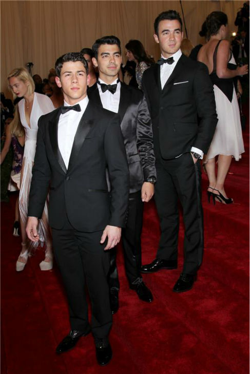The time the Jonas Brothers attended the 2012 &#39;Schiaparelli And Prada: Impossible Conversations&#39; Costume Institute Gala at the Metropolitan Museum of Art in New York on May 7, 2012. <span class=meta>(Marion Curtis &#47; Startraksphoto.com)</span>