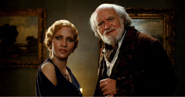 Halle Berry appears as Jocasta Ayrs and Jim Broadbent appears as Vyvyan Ayrs in a scene from the 2012 movie 'Cloud Atlas.'