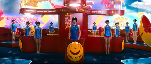 Xun Zhou appears as Yoona-939, Zhu Zhu appears as 12th Star Clones and Doona Bae appears as Sonmi-451 in a scene from the 2012 movie 'Cloud Atlas.'