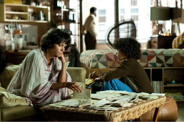 Halle Berry appears as Luisa Rey, Keith David appears as Napier and Brody Lee appears as Javier Gomez in a scene from the 2012 movie 'Cloud Atlas.'