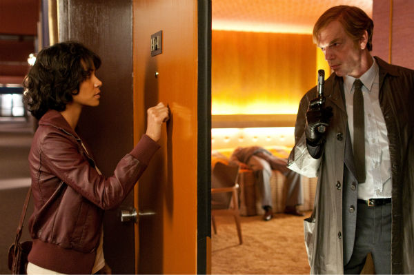 Halle Berry appears as Luisa Rey and Hugo Weaving appears as Bill Smoke in a scene from the 2012 movie 'Cloud Atlas.'