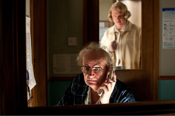 Jim Broadbent appears as Timothy Cavendish and Hugo Weaving appears as Nurse Noakes in a scene from the 2012 movie 'Cloud Atlas.'