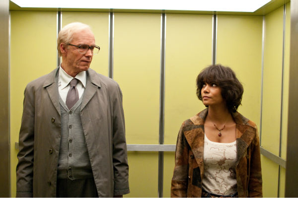 James D'Arcy appears as old Rufus Sixsmith and Halle Berry appears as Luisa Rey in a scene from the 2012 movie 'Cloud Atlas.'