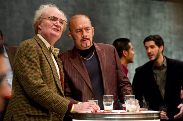 Jim Broadbent appears as Timothy Cavendish and Tom Hanks appears as Dermot Hoggins in a scene from the 2012 movie 'Cloud Atlas.'