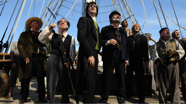 Tom Hanks &#40;far left&#41; appears as Dr. Henry Goose, Jim Sturgess &#40;center&#41; appears as Adam Ewing and Jim Broadbent &#40;center right&#41; appears as Captain Molyneux in a scene from the 2012 movie &#39;Cloud Atlas.&#39; <span class=meta>(Jay Maidment &#47; Warner Bros. Pictures)</span>