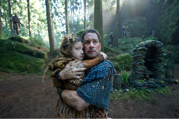 "<div class=""meta ""><span class=""caption-text "">Raeven Lee Hanan appears as Catkin and Tom Hanks appears as Zachry in a scene from the 2012 movie 'Cloud Atlas.' (Jay Maidment / Warner Bros. Pictures)</span></div>"