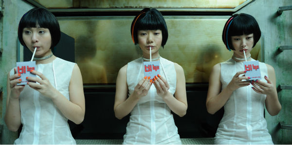 Doona Bae &#40;center&#41; appears as Sonmi-451 and Zhu Zhu appears as 12th Star Clones &#40;right&#41; in a scene from the 2012 movie &#39;Cloud Atlas.&#39; <span class=meta>(Jay Maidment &#47; Warner Bros. Pictures)</span>