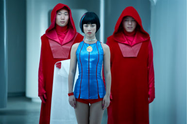 "<div class=""meta ""><span class=""caption-text "">Zhu Zhu appears as 12th Star Clones in a scene from the 2012 movie 'Cloud Atlas.' (Jay Maidment / Warner Bros. Pictures)</span></div>"