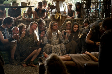 Susan Sarandon (center) appears as Abbess in a scene from the 2012 movie 'Cloud Atlas.'