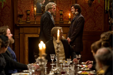 "<div class=""meta ""><span class=""caption-text "">Hugo Weaving appears as Haskell Moore and Jim Sturgess appears as Adam Ewing in a scene from the 2012 movie 'Cloud Atlas.' (Jay Maidment / Warner Bros. Pictures)</span></div>"