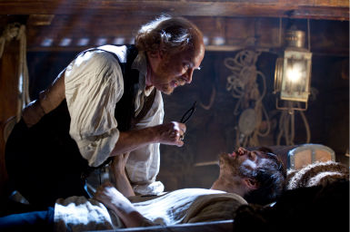 "<div class=""meta ""><span class=""caption-text "">Tom Hanks appears as Dr. Henry Goose and Jim Sturgess appears as Adam Ewing in a scene from the 2012 movie 'Cloud Atlas.' (Jay Maidment / Warner Bros. Pictures)</span></div>"