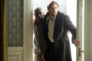 "<div class=""meta ""><span class=""caption-text "">David Gyasi appears as Autua and Jim Sturgess appears as Adam Ewing in a scene from the 2012 movie 'Cloud Atlas.' (Jay Maidment / Warner Bros. Pictures)</span></div>"