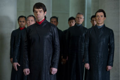 "<div class=""meta ""><span class=""caption-text "">Hugo Weaving (front) appears as Boardman Mephi in a scene from the 2012 movie 'Cloud Atlas.' (Jay Maidment / Warner Bros. Pictures)</span></div>"