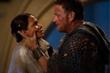 Tom Hanks appears as Zachry and Halle Berry appears as Meronym in a scene from the 2012 movie &#39;Cloud Atlas.&#39; <span class=meta>(Jay Maidment &#47; Warner Bros. Pictures)</span>