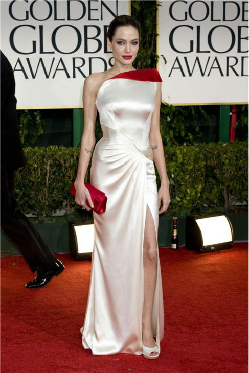 Angelina Jolie attends the 2012 Golden Globe Awards in Beverly Hills, California on Jan. 15, 2012. <span class=meta>(Justin Campbell &#47; Startraksphoto.com)</span>