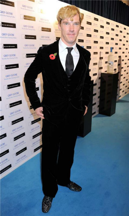 Benedict Cumberbatch appears at the Grey Goose Winter Ball to Benefit the Elton John AIDS Foundation at Battersea Park in London on Oct. 29, 2011. <span class=meta>(Richard Young &#47; Startraksphoto.com)</span>