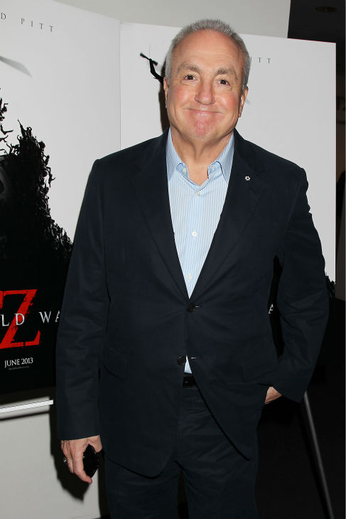 'SNL's Lorne Michaels appears at a special tastemaker screening of the studio's new film 'World War Z,' starring co-host Brad Pitt, at The Museum of Modern Art in New York on Wednesday, May 22, 2013.