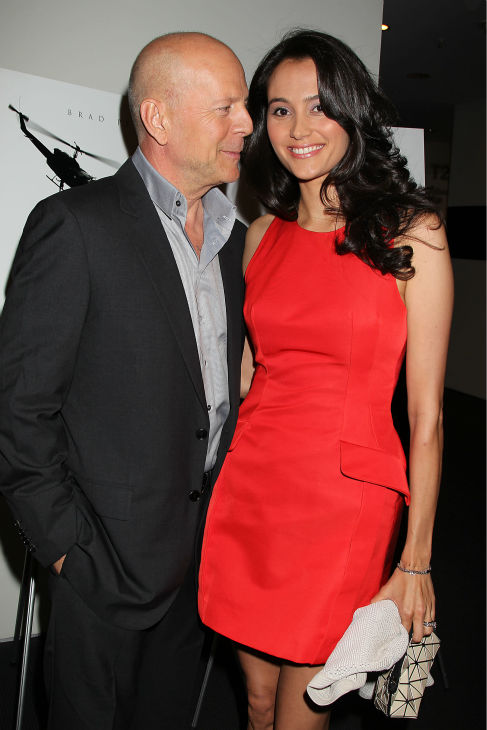 Actor Bruce Willis and wife Emma Hemming appear at a special tastemaker screening of the studio's new film 'World War Z,' starring co-host Brad Pitt, at The Museum of Modern Art in New York on Wednesday, May 22, 2013.