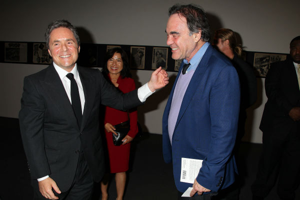 Co-host Brad Grey, CEO of Paramount Pictures, and director Oliver Stone appear at a special tastemaker screening of the studio's new film 'World War Z,' starring co-host Brad Pitt and directed by Marc Forster, at The Museum of Modern Art in New York on We