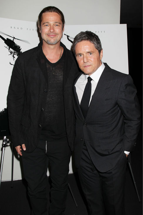 Co-hosts Brad Pitt and Brad Grey, CEO of Paramount Pictures, appear at a special tastemaker screenin